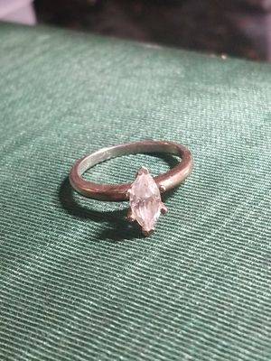 BEAUTIFUL STERLING SILVER RING WITH CUBIC ZIRCONIA for Sale in Fairfax, VA