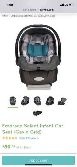 Evenflo Infant Carseat for Sale in Tulsa, OK