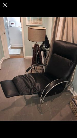 Natuzzi black leather recliner for Sale in Chevy Chase, MD