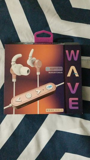 Amazon Wave Bluetooth Earbuds (Rose Gold) for Sale in Morton Grove, IL