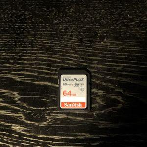 SanDisk Ultra Plus Memory Card - 64gb - 80MB/s' - Camera Memory Card for Sale in San Fernando, CA