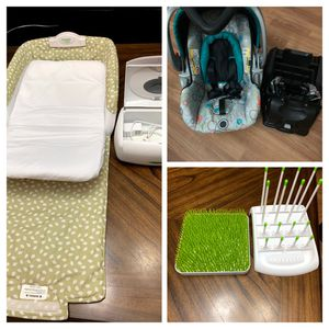Baby Car seat, snuggle nest , wiper warmer and Bottle Drying Rack for Sale in Lake Worth, FL