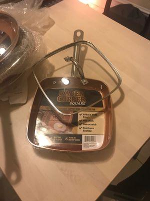 """KADEEM COPPER 9.5"""" SQUARE CERAMIC COPPER NON-STICK FRY PAN. BRAND NEW. NEVER USED. $16.99. for Sale in Chicago, IL"""
