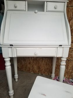 Shabby Chic Drop Leaf Secretary Desk With Matching Chair for Sale in Lynnwood,  WA