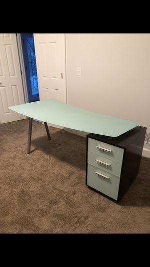 Frosted Glass Desk and File Cabinet for Sale in Marietta, GA