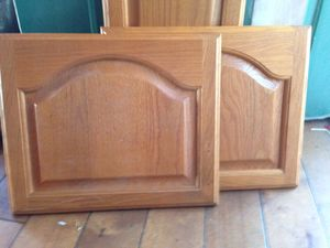 Set of 3 Solid Wood Kitchen Cabinet Doors $20 for Sale in San Diego, CA