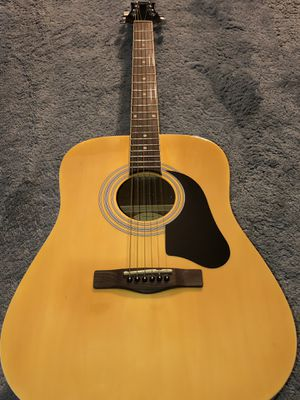 Silver tone ACOUSTIC Guitar BRAND NEW WITH CASE AND PICKS for Sale in Silver Spring, MD