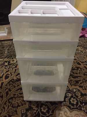 Plastic drawer with wheel for Sale in Skokie, IL