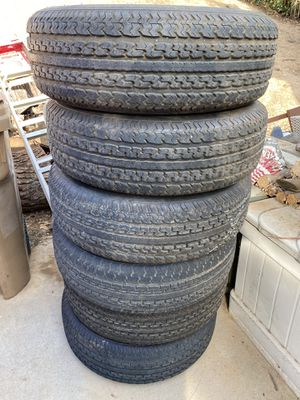 Trailer tires 225 75 15 for Sale in Yucaipa, CA