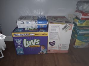 Unopened diapers! 502 size 2 and 208 size 1 for Sale in Roanoke, VA