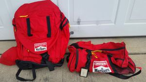 Marlboro cigarette company collector's edition hiking backpack with duffle bag for Sale in Cedar Grove, NJ