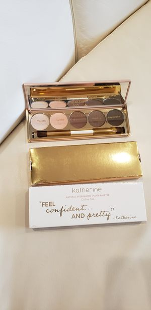 """New Natural coffee 5 eyeshadow palette Cruelty free, Paraben Free, Gluten free. """"COFFEE TALK"""" palette by Katherine Cosmetics for Sale in Ontario, CA"""