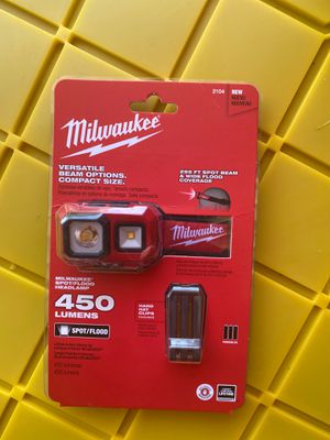 Milwaukee Headlamp not rechargeable for Sale in Lathrop, CA