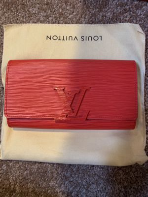 Red Louis Vuitton Wallet Authentic New for Sale in Seattle, WA