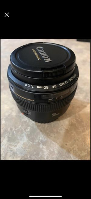 Canon 50mm 1.4 lens for Sale in Tampa, FL