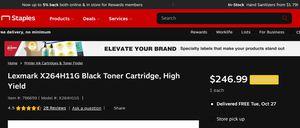 Lexmark 9000 Page Yield Laser Toner Cartridge for Sale in Alpharetta, GA