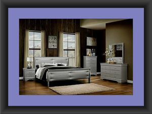11pc Grey Marley bedroom set with mattress for Sale in University Park, MD