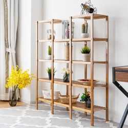 Multifunctional Bamboo Shelf Flower Plant Display Stand for Sale in Huntington Park,  CA