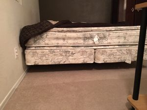 $90- California King Bed (with mattress, rails & box spring) for Sale in Scottsdale, AZ