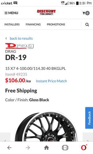 "DRAG ExtremeAlloys 15"" Black Rims for Sale in Tucson, AZ"
