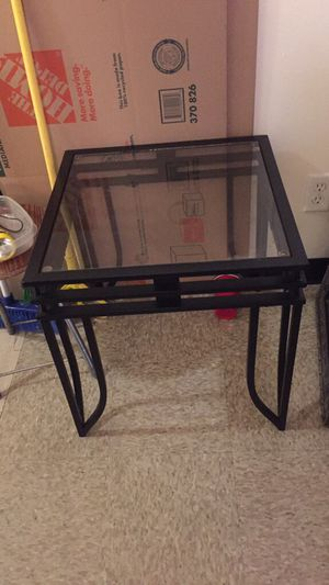 Glass side table for Sale in New York, NY