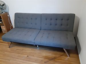 BroyerK 3-Seat Grey Futon Convertible Sofa Bed for Sale in Monrovia, CA