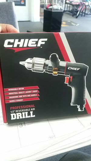 Chief 1/2 inch reversible air drill professional. for Sale in Newport News, VA