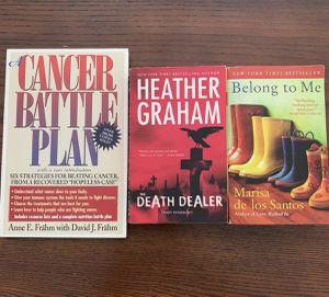Books ( the death dealer , belong to me , cancer battle plan ) for Sale in Bethel Park, PA