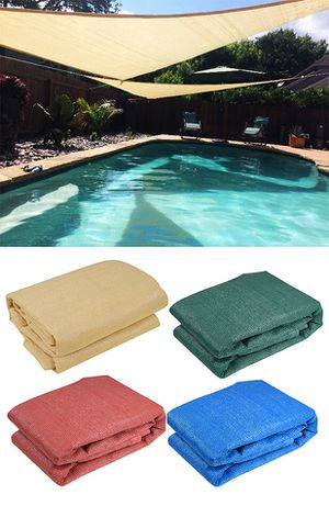 Brand New $25 each 16.5' Triangle Sun Shade Sail Outdoor Canopy Patio Cover (Tan, Red, Green) for Sale in Downey, CA