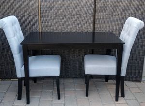 Gorgeous Two Person Grey & Black Dining Room Table Set for Sale in Glendale, AZ