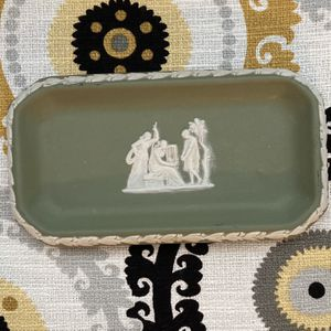 Wedgwood Jasperware Safe Green Rectangular / Oval Small Dish for Sale in Fort Lauderdale, FL