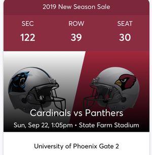 Carolina Panthers vs. AZ Cardinals for Sale in Chandler, AZ