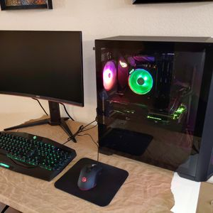 Gaming PC Bundle Ryzen 3600 GTX 1660 Ti 16GB RAM 1TB SSD + Monitor + Keyboard & Mouse for Sale in Frisco, TX