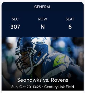 Seahawks vs Ravens for Sale in Tacoma, WA