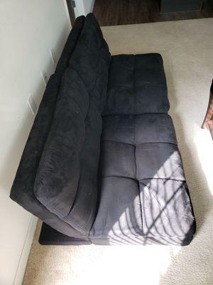 Black velvet sofa for Sale in Seminole, FL