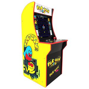 Pac Man Plus Arcade 1 Up Video Game Console with Bar Stool Excellent Condition for Sale in Santa Ana, CA