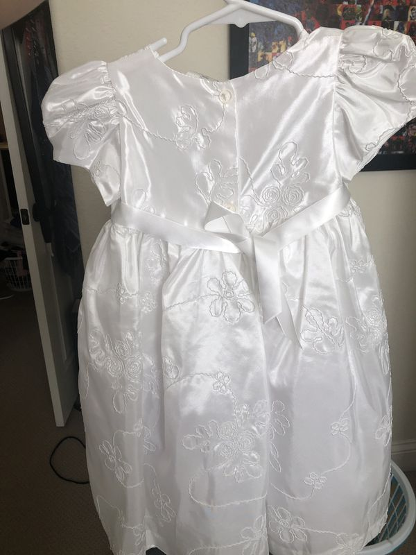 White Dress for Baptismal, Flower Girl etc