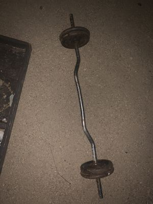 Curl bar and dumbbell for Sale in Phoenix, AZ