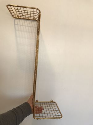 Gold wire wall shelves for Sale in Glendale, CA
