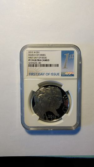 Silver Dollar March of Dimes 2015-W PF70 Ultra Cameo NGC for Sale in Cape Coral, FL