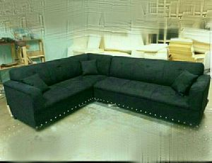 NEW 7X9FT DOMINO BLACK SECTIONAL COUCHES for Sale in US