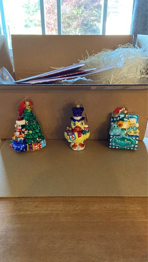 Christopher Radko Christmas Ornaments baby for Sale in East Greenwich, RI