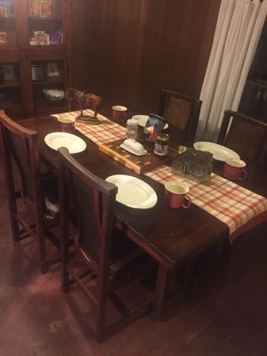 China Cabinet with Table 4 chairs , There's 7 picture for Sale in Bethpage, TN