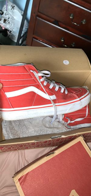 Red and White Vans for Sale in Summerville, SC