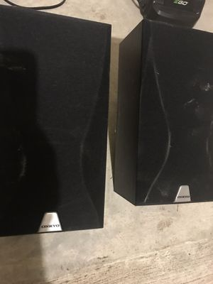 Speakers pair Onkyo for Sale in Houston, TX