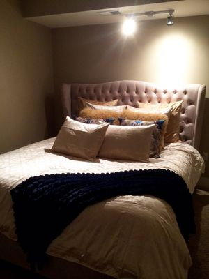 Z Gallerie Jameson Tufted bed for Sale in West McLean, VA