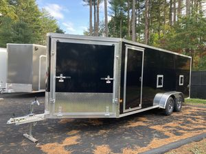 2021 EZ-Hauler 7'x18' V-Nose drive in drive out in-line enclosed trailer will trade for Sale in Westford, MA
