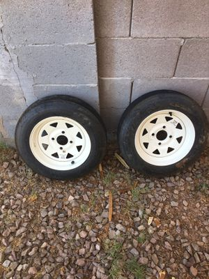 Trailer tires and rims for Sale in Mesa, AZ