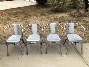 4 Metal Chairs. Sturdy and in excellent condition for Sale in Raleigh, NC