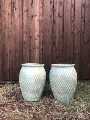 Turquoise Clay Pots for Sale in Dallas, TX